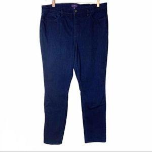 NYDJ Women's Skinny Jeans High Rise Dark Wash Size 16 Denim